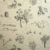 Ralph Lauren Garden Shop Toile - Black
